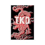 Black TKD Dragon Magnets 10 pack
