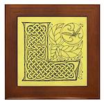 Celtic Letter L Framed Tile