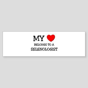 My Heart Belongs To A SELENOLOGIST Sticker (Bumper