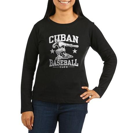 Cuban Baseball Women's Long Sleeve Dark T-Shirt