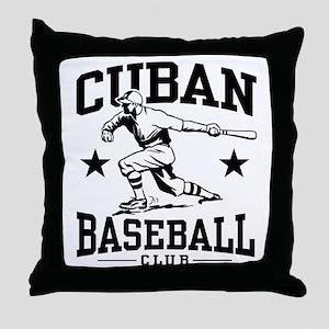 Cuban Baseball Throw Pillow