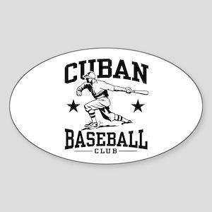 Cuban Baseball Oval Sticker