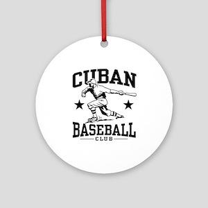 Cuban Baseball Ornament (Round)