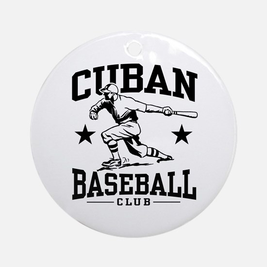 Cuban Baseball Ornament (Round)