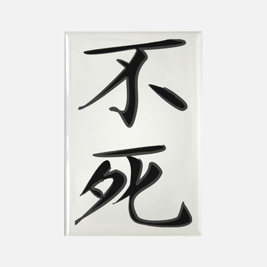 Immortality - Kanji Symbol Rectangle Magnet