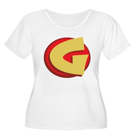 "SuperHero Letter ""G"" Women's Plus Size Scoop Neck"