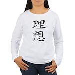 Ideal - Kanji Symbol Women's Long Sleeve T-Shirt