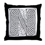 Celtic Letter N Throw Pillow