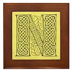Celtic Letter N Framed Tile