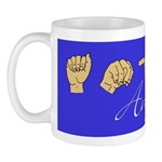 Angie Name in ASL letters Mug