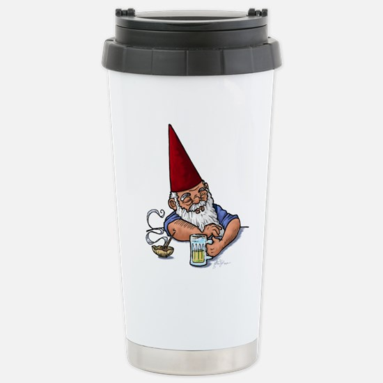 Drunken Barley Gnome Stainless Steel Travel Mug