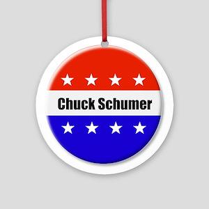 Chuck Schumer Round Ornament