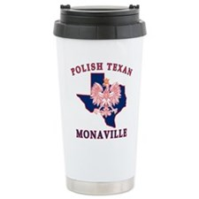 Monaville Polish Texan Stainless Steel Travel Mug