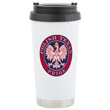 Polish Texan Pride Stainless Steel Travel Mug
