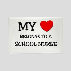 My Heart Belongs To A SCHOOL NURSE Rectangle Magne