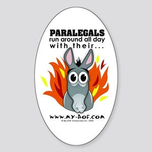 Paralegals Oval Sticker