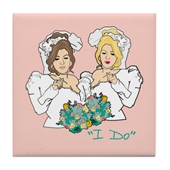 Lesbian Marriage I Do Tile Coaster
