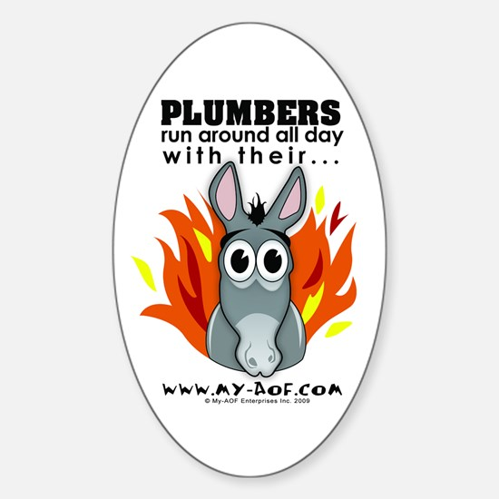 Plumbers Oval Decal