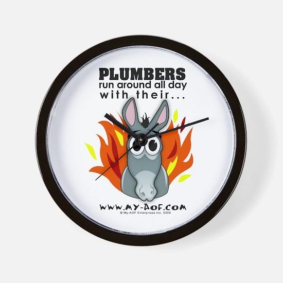 Plumbers Wall Clock