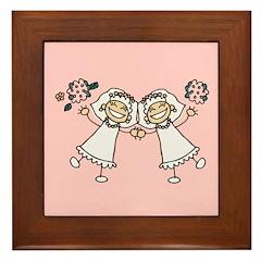 Lesbian Brides Framed Tile