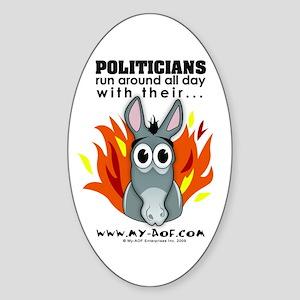 Politicians Oval Sticker