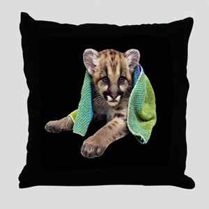 Cougar Cub Throw Pillow