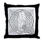 Celtic Letter Q Throw Pillow