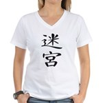 Labyrinth - Kanji Symbol Women's V-Neck T-Shirt