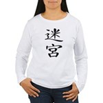 Labyrinth - Kanji Symbol Women's Long Sleeve T-Shi