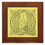 Celtic Letter Q Framed Tile