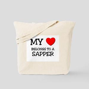 My Heart Belongs To A SAPPER Tote Bag
