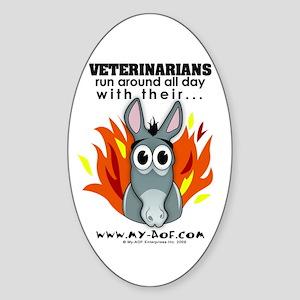 Veterinarians Oval Sticker