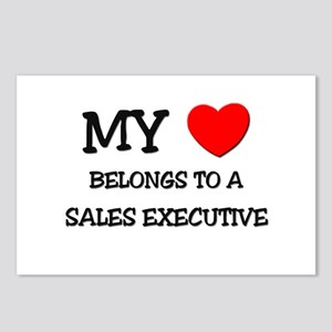 My Heart Belongs To A SALES EXECUTIVE Postcards (P