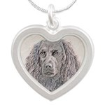 Boykin Spaniel Silver Heart Necklace