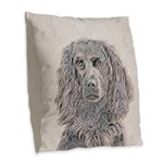 Boykin Spaniel Burlap Throw Pillow