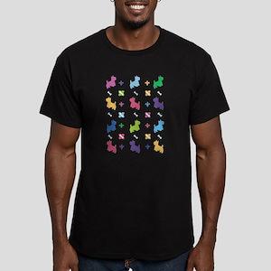 Cairn Terrier Designer Men's Fitted T-Shirt (dark)