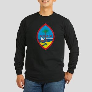 Guam Coat Of Arms Long Sleeve Dark T-Shirt