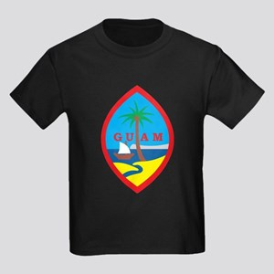Guam Coat Of Arms Kids Dark T-Shirt