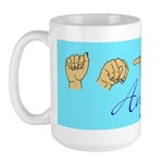 Angie Name in ASL letters Large Mug