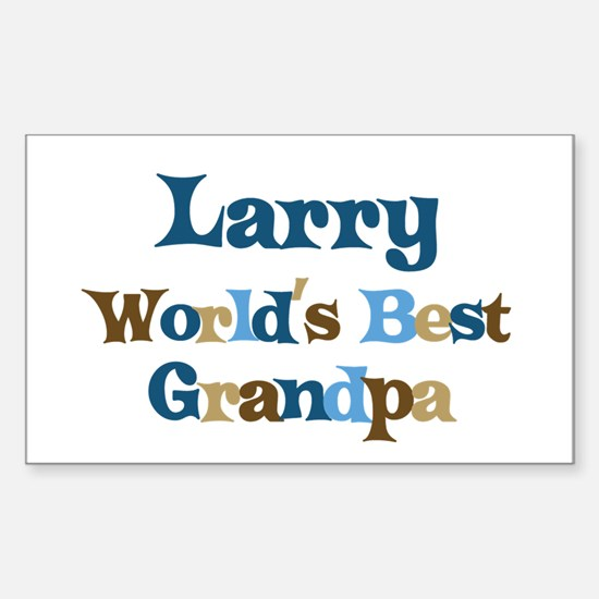 Larry - Best Grandpa Rectangle Decal