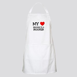 My Heart Belongs To A ROOFER BBQ Apron