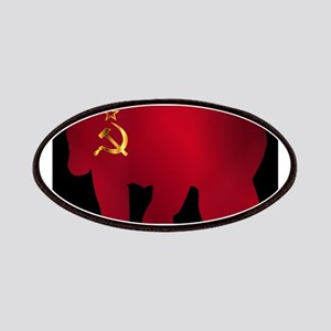 Large Russian Bear Silhouette On Flag Patch