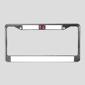 British Lion Silhouette On Uni License Plate Frame