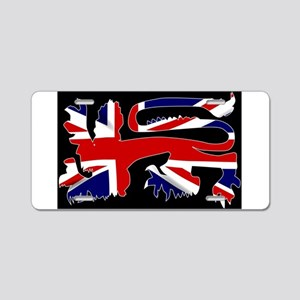 British Lion Silhouette On Aluminum License Plate