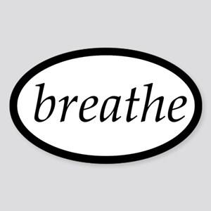 Breathe Oval Sticker