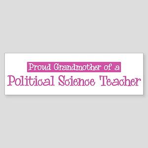 Grandmother of a Political Sc Bumper Sticker