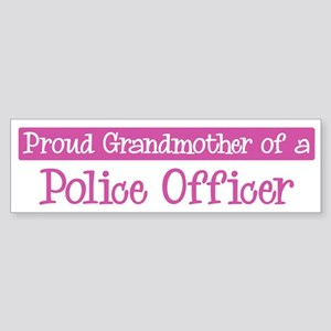 Grandmother of a Police Offic Bumper Sticker