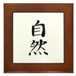 Nature - Kanji Symbol Framed Tile