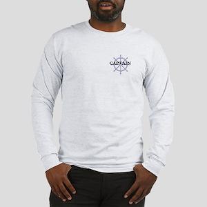 Captain Ship Wheel Long Sleeve T-Shirt
