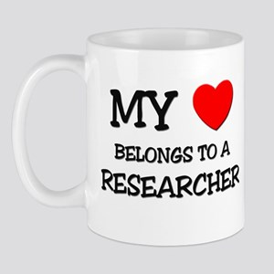 My Heart Belongs To A RESEARCHER Mug